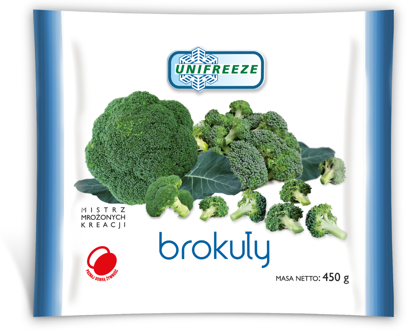 Brokuły mrożone 450g - Unifreeze