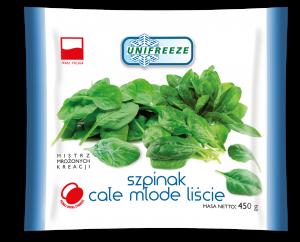 Szpinak całe młode liście mrożone - Unifreeze