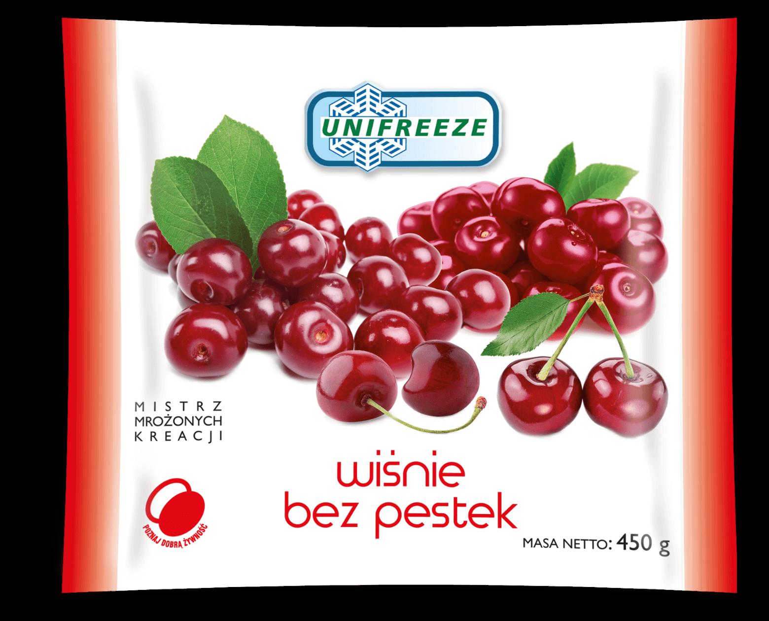 Wiśnie bez pestek mrożone 450 g - Unifreeze
